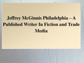 Jeffrey McGinnis Philadelphia