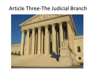 Article Three-The Judicial Branch