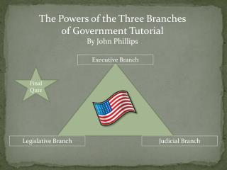 The Powers of the Three Branches of Government Tutorial By John Phillips