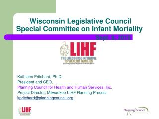 Wisconsin Legislative Council  Special Committee on Infant Mortality