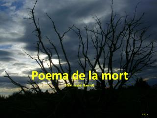 Poema de la mort (Text: Isabel  Barriel )