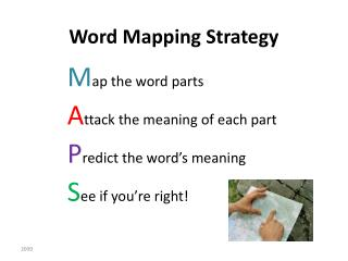 Word Mapping Strategy