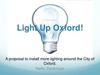 Light Up Oxford!