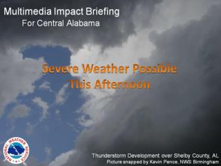Severe  Weather Possible This Afternoon