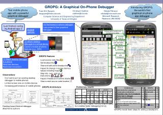 GROPG: A Graphical On-Phone Debugger