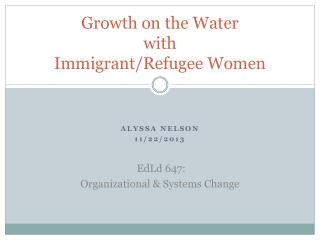 Growth on the Water with Immigrant/Refugee Women