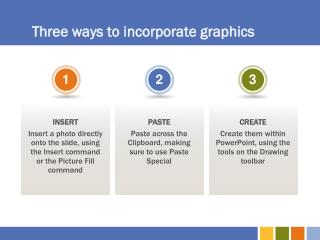 Three ways to incorporate graphics