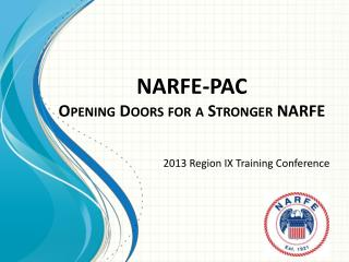 NARFE-PAC Opening Doors for a Stronger NARFE