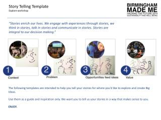 Story Telling Template Explore workshop