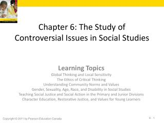 Chapter 6: The Study of Controversial Issues in Social Studies