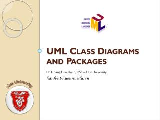 UML Class Diagrams and Packages