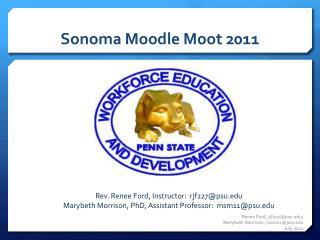 Sonoma Moodle Moot 2011