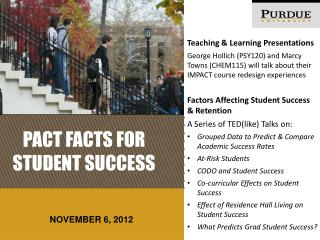 Pact Facts for Student success