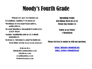 Moody's Fourth Grade
