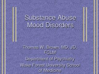 Substance Abuse Mood Disorders