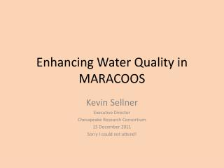 Enhancing Water Quality in MARACOOS