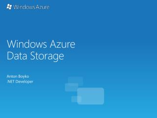 Windows  Azure Data Storage