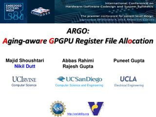 ARGO:  A ging-awa r e  G PGPU Register File  All o cation
