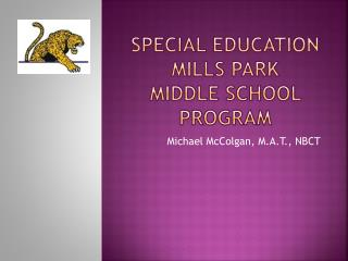 Special Education Mills Park  Middle  School Program