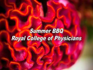Summer BBQ Royal College of Physicians