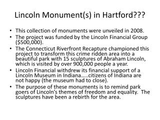 Lincoln Monument(s) in Hartford???