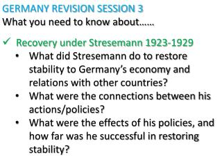 stresemann s time in power 1923 1929 the Had the weimar republic overcome all of its problems by 1929 it's worst crisis ustav stresemann leader of able to gain power in 1933 is in.