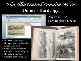 The Illustrated London News  Online - Hardcopy