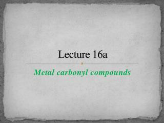 Lecture 16a