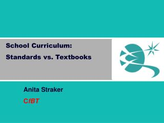 School Curriculum: Standards vs. Textbooks