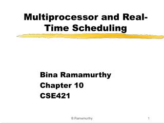 Multiprocessor and Real-Time Scheduling