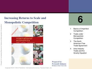 Increasing Returns to Scale and Monopolistic Competition