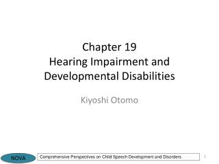 Chapter 19 Hearing Impairment and Developmental Disabilities