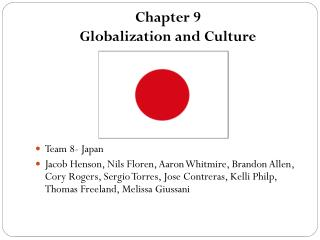 Chapter 9 Globalization and Culture
