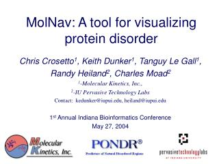 MolNav: A tool for visualizing protein disorder