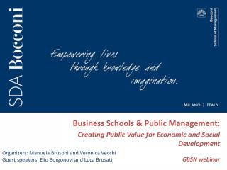 Business Schools & Public Management: 