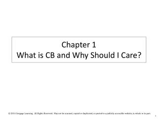Chapter 1 What is CB and Why Should I Care?