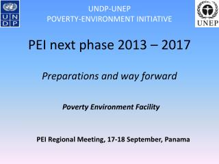 PEI Regional Meeting, 17-18 September, Panama