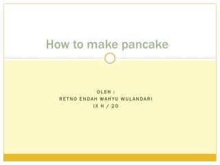 How to make pancake