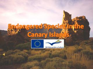 Endangered Species  in  the Canary Islands