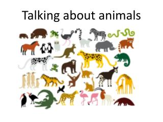 Talking about animals