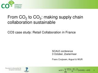 From CO 2  to CO 3 : making supply chain collaboration sustainable