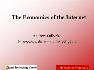 The Economics of the Internet