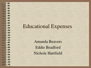 Educational Expenses