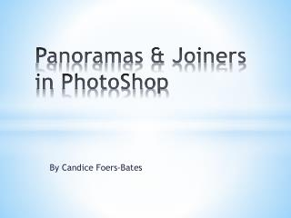 Panoramas & Joiners in  PhotoShop