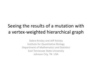 Seeing the results of a mutation with a vertex-weighted hierarchical graph