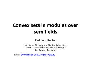 Convex sets  in  modules over semifields