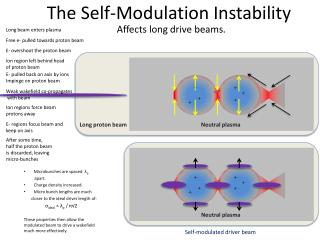 The Self-Modulation  I nstability