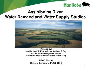 Assiniboine River  Water Demand and Water Supply Studies