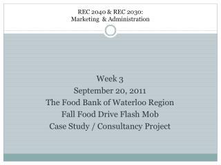 REC 2040 & REC 2030: Marketing & Administration