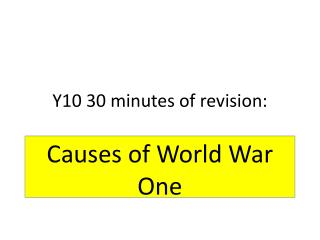 Y10 30 minutes of revision: